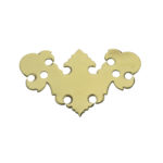 "H-34S 2"" Chippendale Drawer Pull Plate Only"