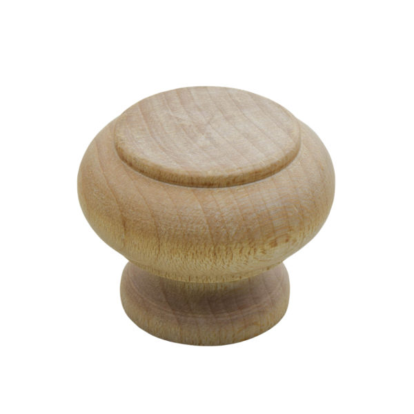 "WK-6 1-1/4"" Wooden Maple Knob"
